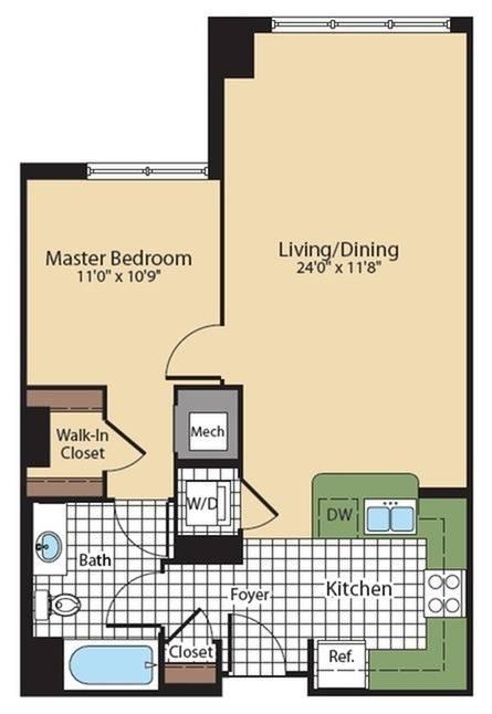 Floor Plan 1   KW8   Meridian at Grosvenor Station