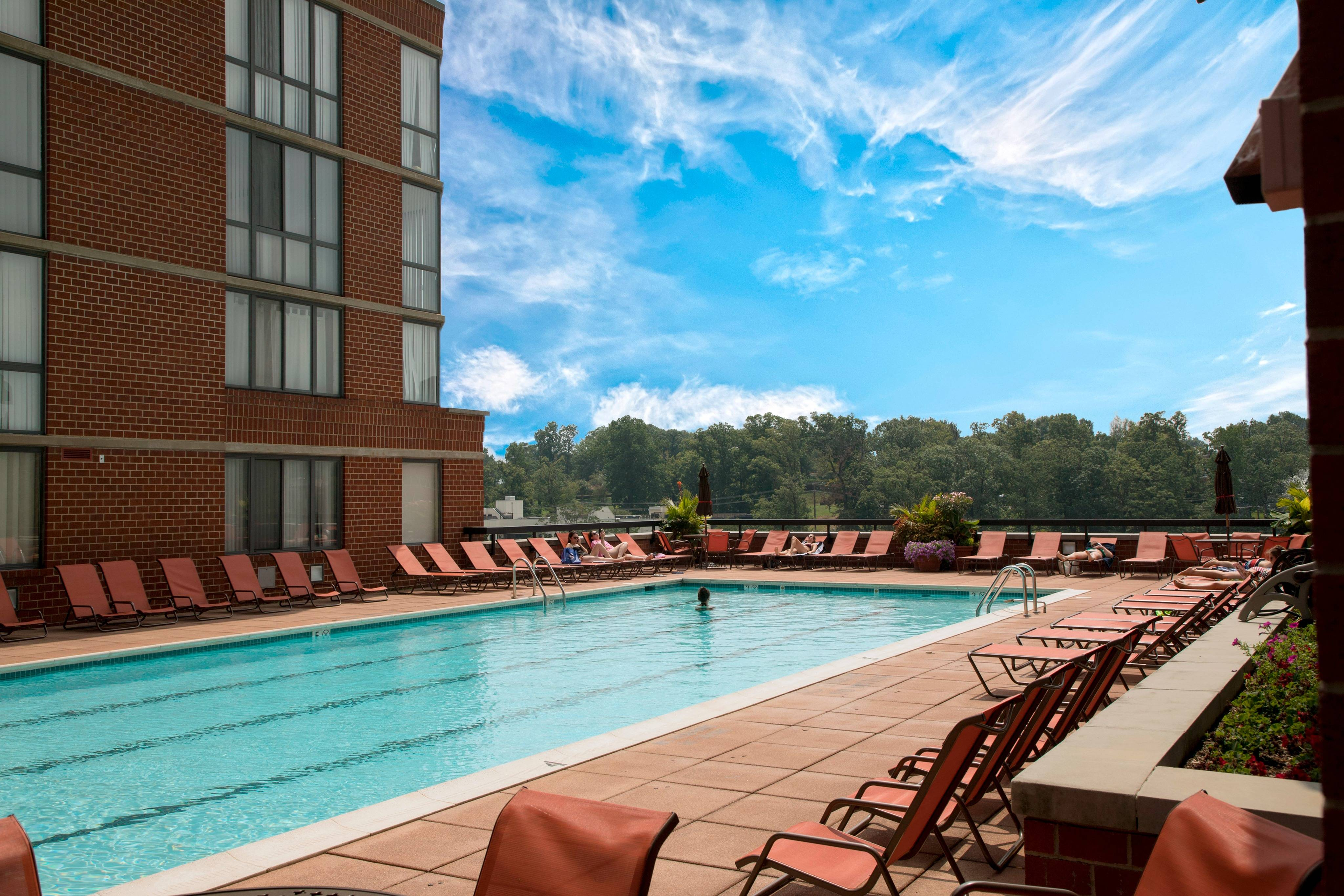 Swimming Pool and Sun Deck   Meridian at Courthouse Commons  Arlington, VA Apartments