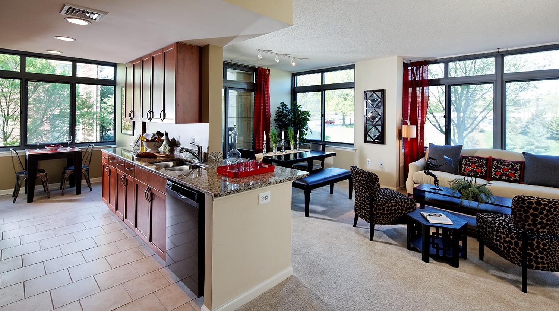 Spacious living spaces