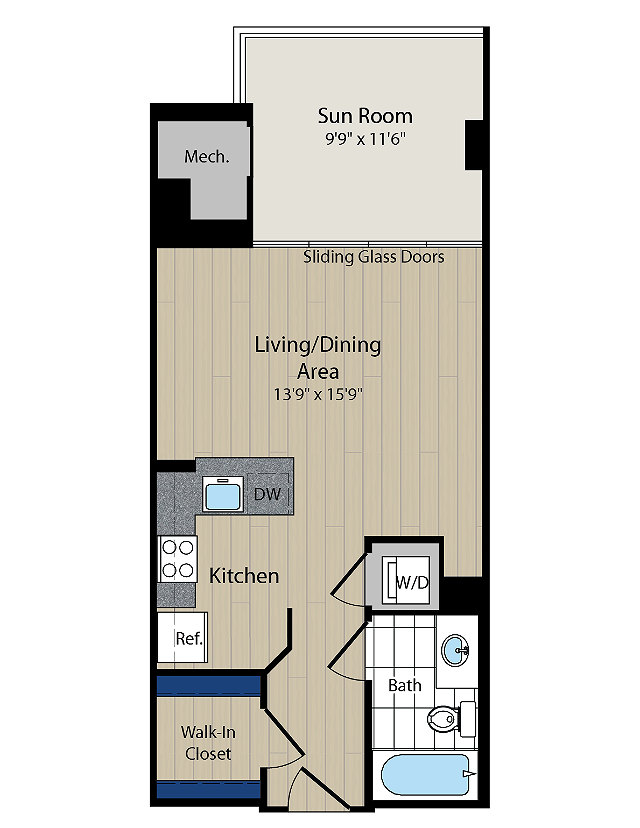 Floor Plan 2 | Meridian at Courthouse Commons