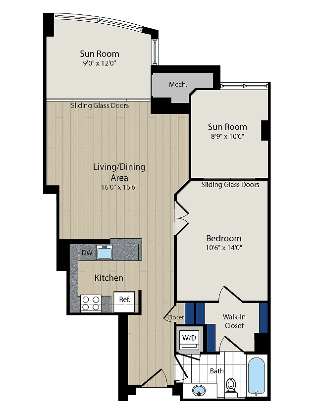 Floor Plan 4 | Meridian at Courthouse Commons