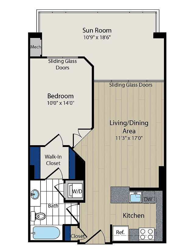 Floor Plan 2 | Meridian at Courthouse Commons2