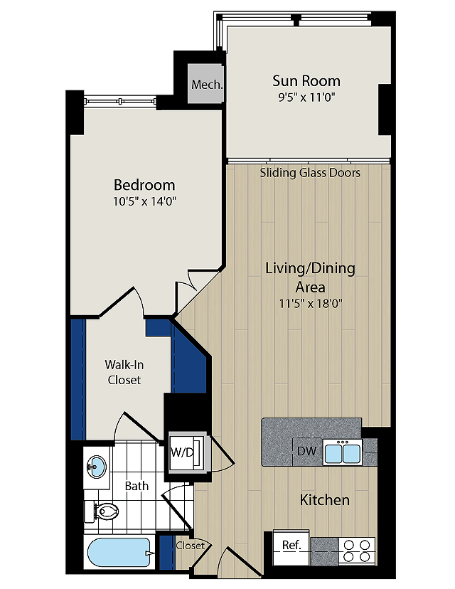 Floor Plan 5 | Meridian at Courthouse Commons 2
