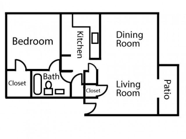 One Bedroom One Bath Large