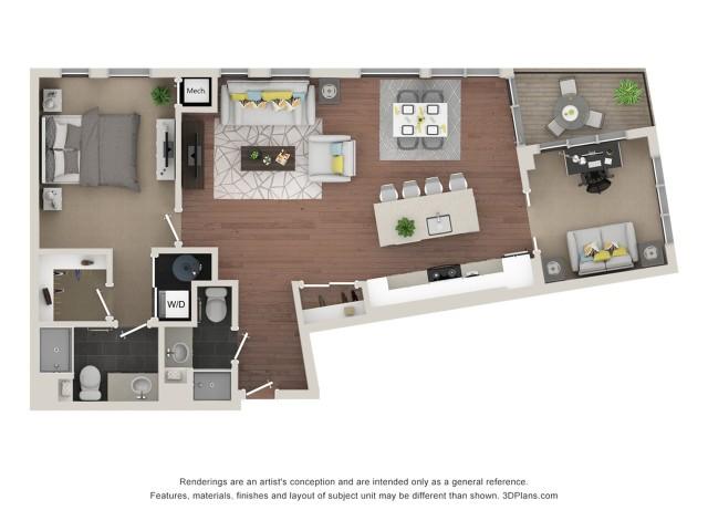One Bedroom & Den