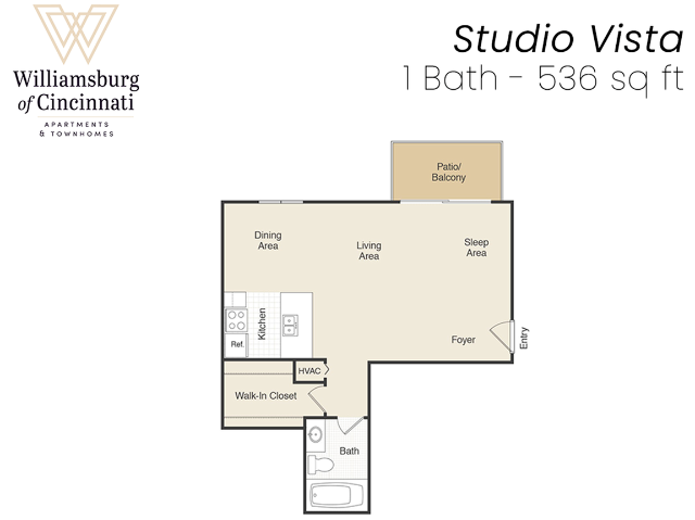Studio Apartment in Cincinnati, OH