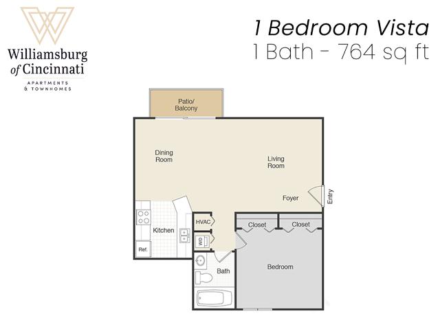 1 Bedroom Apartment, Cincinnati, OH