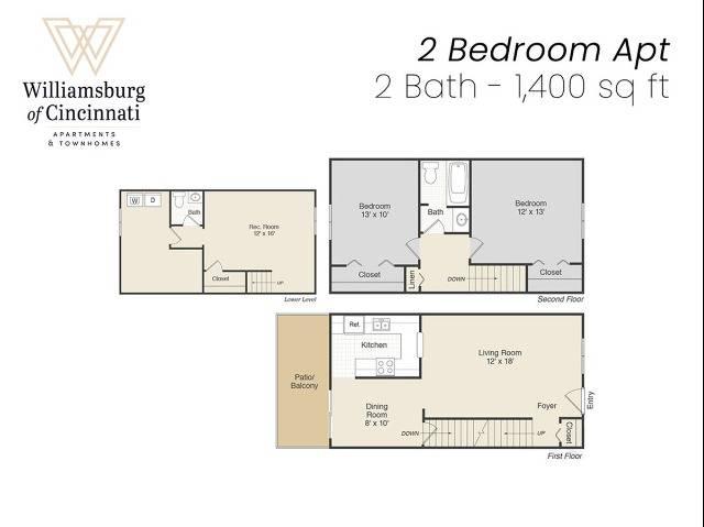 2 bed 2 bath apartment