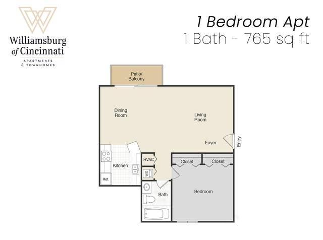 1 Bed 1 Bath Apartment