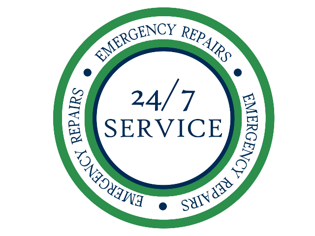 Emergency repairs are offered 24 hours a day, seven days a week