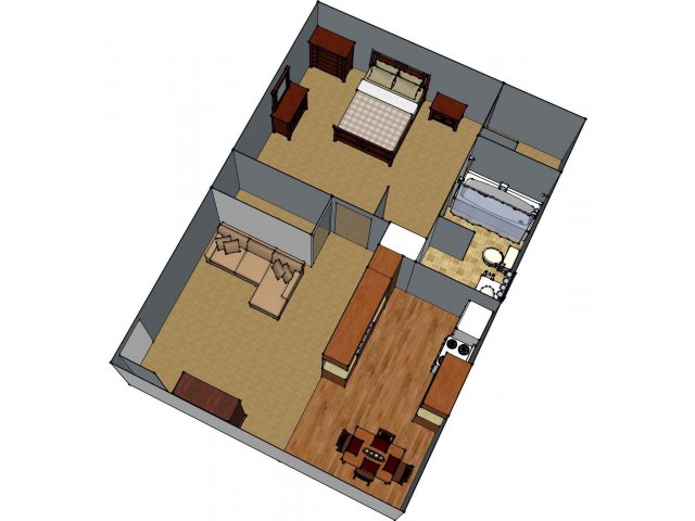 1 Floor Plan 1 | Luxury Apartments Lafayette LA | Maison Bocage Apartments