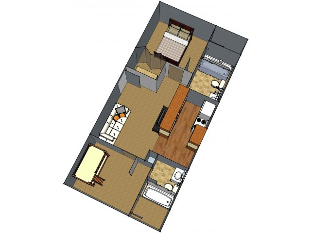 1 Floor Plan 5 | Lafayette Apartments | Maison Bocage Apartments
