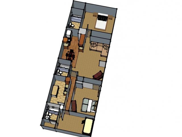 1 Floor Plan 4 | Apartment For Rent Lafayette LA | Maison Bocage Apartments