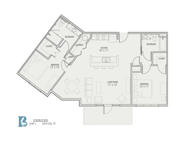Floor Plan 6 | Luxury Apartments Baton Rouge | Bayonne at Southshore