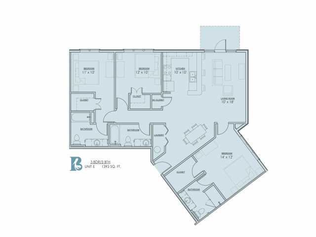 Floor Plan 10 | Apartments Near LSU | Bayonne at Southshore