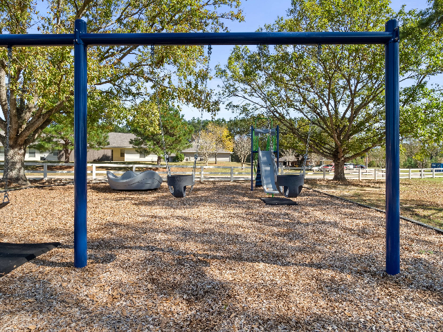 A playground ready and waiting for your kids!