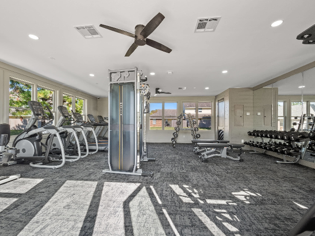 Keep your body healthy with our on-site fitness center!