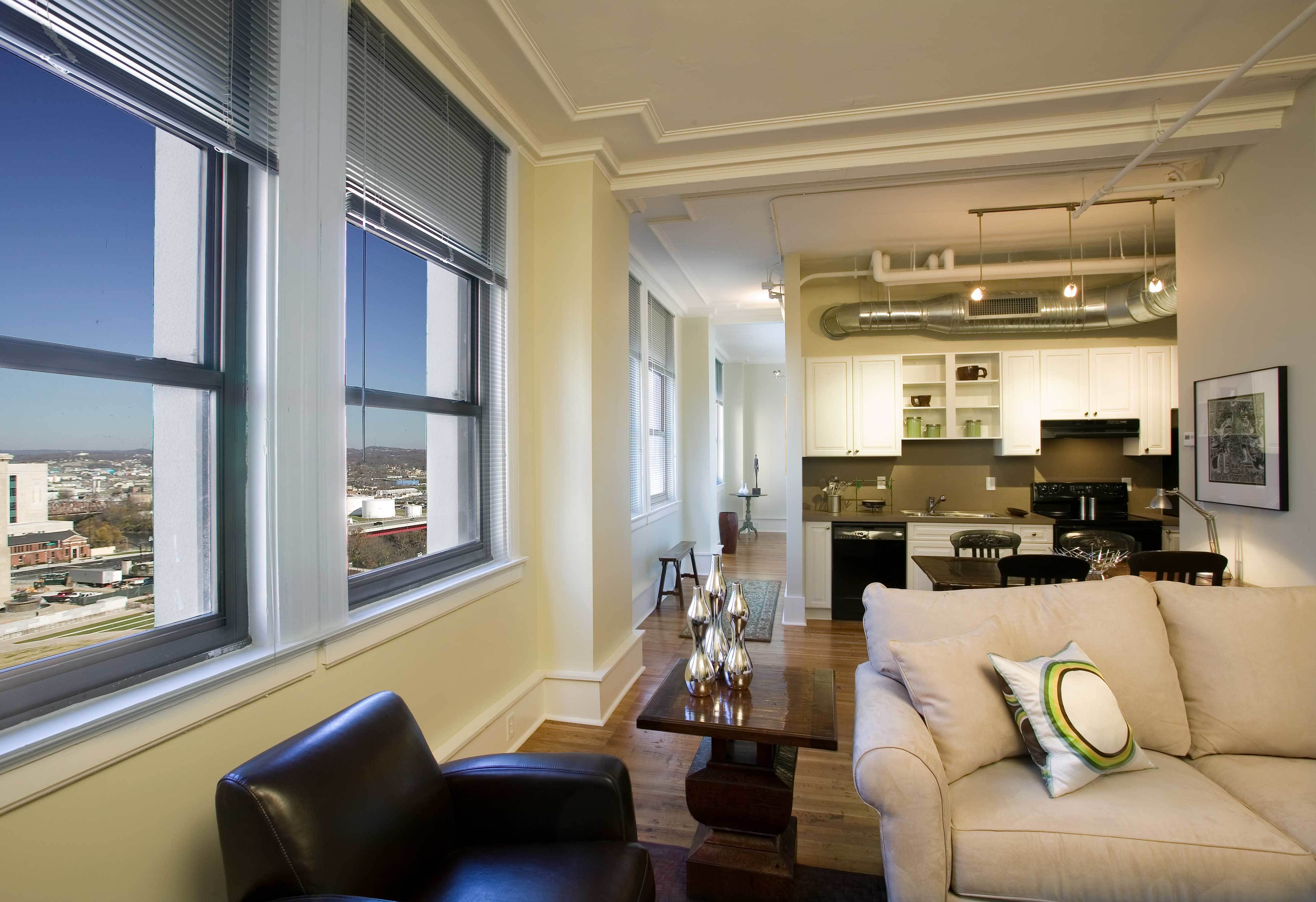 open plan interior living space