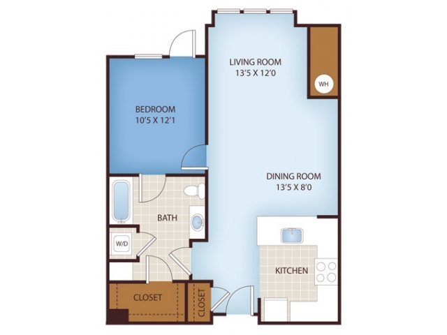 A- ONE BEDROOM ONE BATH