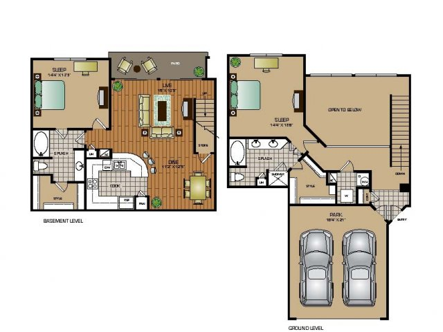 Two Bedroom / Two Bath - TOWNHOME