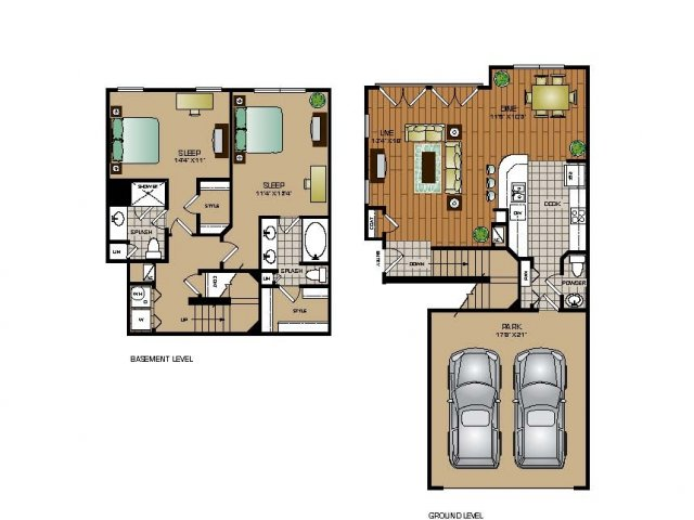 Two Bedroom / Two and a Half Bath - TOWNHOME