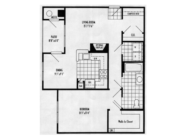 Daphne - 1 bed, 1 bath 831 square feet