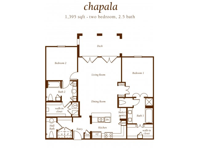 2 Bedroom 2.5 Bath