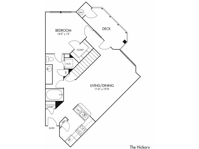 1 bed 1 bath apartment in austin tx canyon springs at bull creek Cows Anatomy Diagram Printable for the the hickory floor plan
