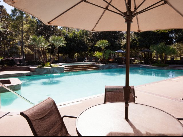 Image of Relax in our sparkling, resort-style pool and heated spa for The Lodge at Spring Shadows