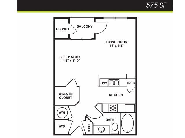 Studio / 1 Bath Apartment in Tampa FL | The Millennium Westshore