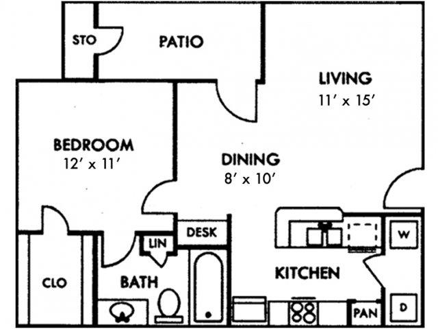 Escalante Apartments, A1 Floor Plan