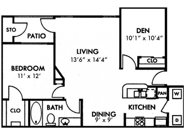 Escalante Apartments, A3 Floor Plan