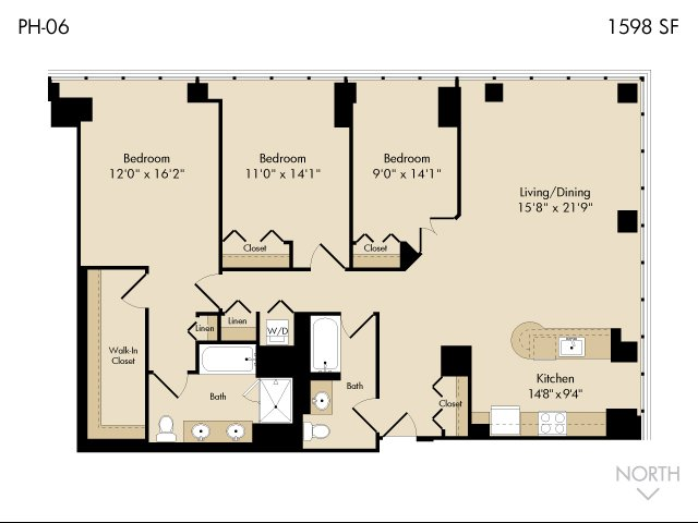 For The 3 Bedroom 2 Bath Floor Plan