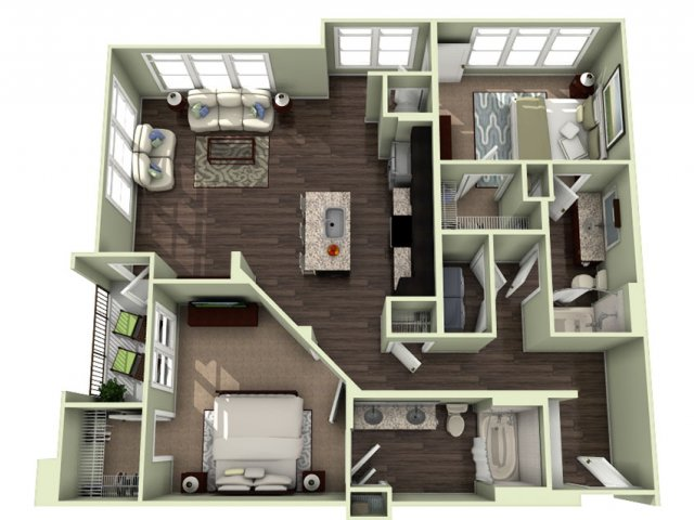 Floor Plan 13 | LaVie SouthPark