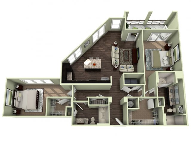 Floor Plan 17 | LaVie SouthPark