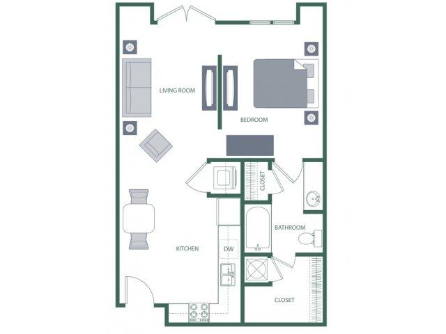 Floor Plan 2 | 2100 Acklen Flats