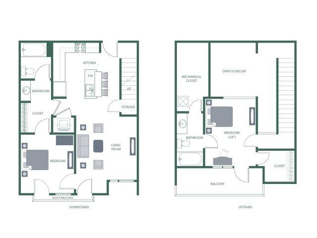Floor Plan 4 | 2100 Acklen Flats