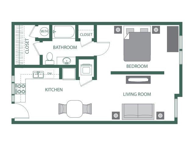 Floor Plan 3 | 2100 Acklen Flats