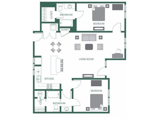 Floor Plan 9 | 2100 Acklen Flats