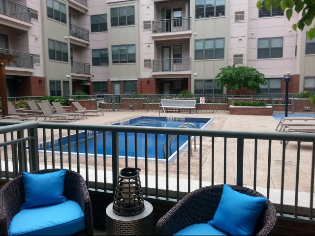 Patios and balconies in select units