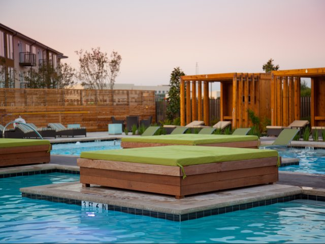 Northside and Parkside at Legacy Pools Plano Texas