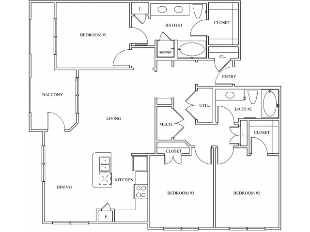 Keller Springs Crossing 3 bedroom floorplan