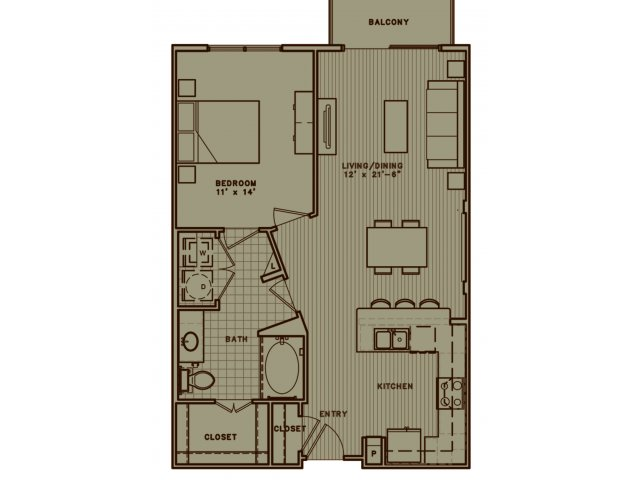 A4H one bedroom with balcony and handicap accessible