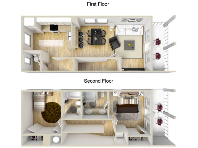2/2.5 Townhome Floorplan