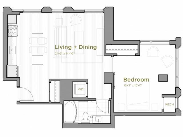 A01 Floor Plan, Northeast Corner
