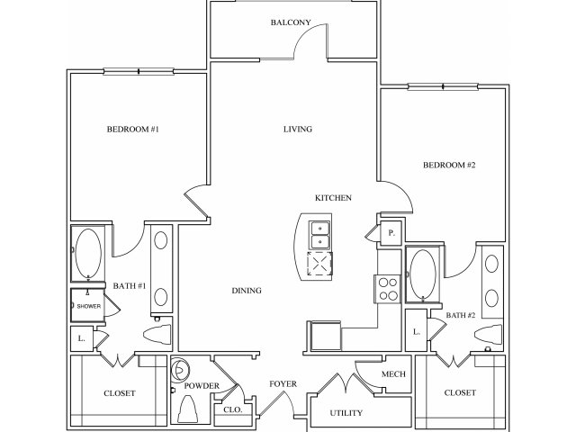 Keller Springs Crossing | One Bedroom Floor Plan | Apartments for Rent Carrollton, Texas