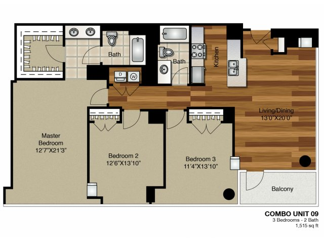 Lincoln property company properties k2 apartments - Three bedroom apartments chicago ...
