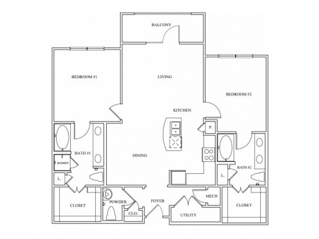Keller Springs Crossing | Two Bedroom Floor Plan | Apartment for Rent Carrollton, Texas