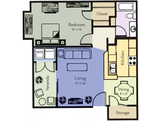 One Bedroom, One Bathroom