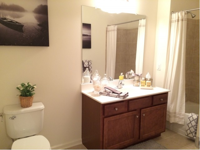 Image of Luxurious Bathrooms Featuring Double Vanities with Cultured Marble Tops for Queens Gate